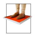 Tapete de desinfección de calzado sencillo
